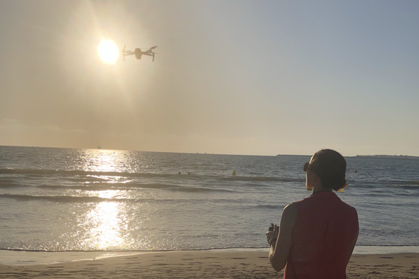 Using an unmanned aerial vehicle to collect ecological data